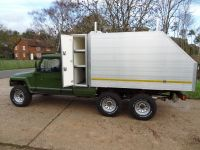 FOERS IBEX 6x6 All alloy body showing the toolbox