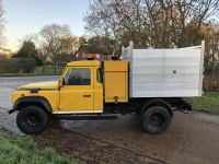 Land Rover Defender After Arboricultural Tipping conversion