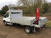 Ford Transit 350 L3 Drop side with crane subframe & Rear Mount Crane