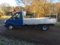 Ford Transit L3 RWD DRW Chassis cab. Drop Side body