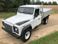 Armoured plated Land Rover 130. All Alloy Tipping body.