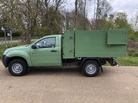 Before & After Isuzu D Max Single Cab 4x4 Arboricultural Tipping conversion with Toolbox