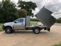 Isuzu D Max single cab. Arboricultural Tipping body with separate Toolbox.