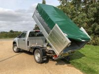 Isuzu D Max Fixed Side All Alloy Tipper for Firewood Delivery