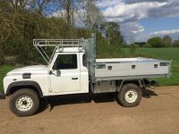 Land Rover Defender 130 tipping body with removable Arb kit.