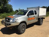Toyota Hilux Extra cab. Arboricultural Tipping body.