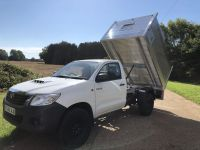 Toyota Hilux Single Cab 4x4 All Alloy Arboricultural Tipping body.